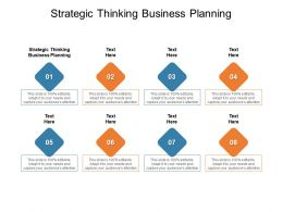 Strategic Thinking Business Planning Ppt Powerpoint Presentation Outline Images Cpb