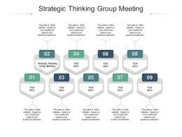 Strategic Thinking Group Meeting Ppt Powerpoint Presentation Gallery Grid Cpb