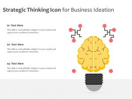 Strategic Thinking Icon For Business Ideation