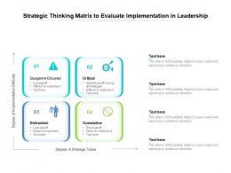 Strategic Thinking Matrix To Evaluate Implementation In Leadership