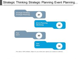 Strategic Thinking Strategic Planning Event Planning Marketing Management Cpb