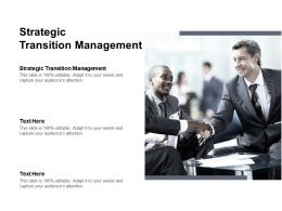 Strategic Transition Management Ppt Powerpoint Presentation Model Background Cpb