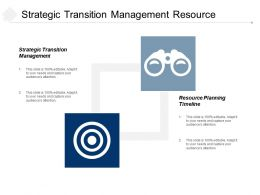 Strategic Transition Management Resource Planning Timeline Stakeholder Alignment Cpb