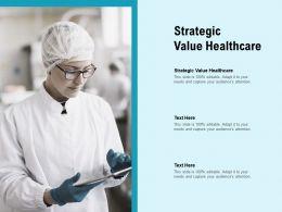 Strategic Value Healthcare Ppt Powerpoint Presentation Styles Deck Cpb