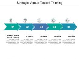 Strategic Versus Tactical Thinking Ppt Powerpoint Presentation File Elements Cpb