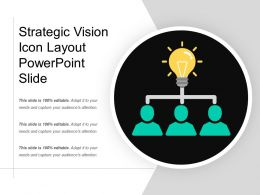 Strategic Vision Icon Layout Powerpoint Slide