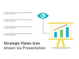 Strategic Vision Icon Shown Via Presentation