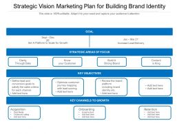 Strategic Vision Marketing Plan For Building Brand Identity