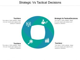 Strategic Vs Tactical Decisions Ppt Powerpoint Presentation Icon Pictures Cpb