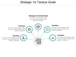 Strategic Vs Tactical Goals Ppt Powerpoint Presentation Professional Slideshow Cpb