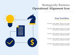 Strategically Business Operational Alignment Icon