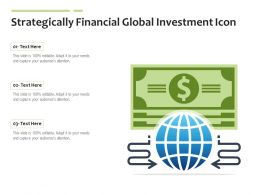Strategically Financial Global Investment Icon