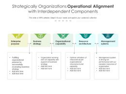 Strategically Organizations Operational Alignment With Interdependent Components