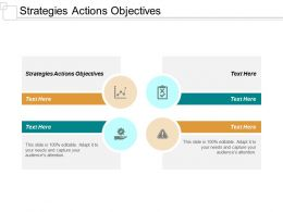Strategies Actions Objectives Ppt Powerpoint Presentation Inspiration Format Ideas Cpb