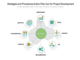 Strategies And Procedures Action Plan Icon For Project Development