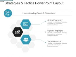 Strategies And Tactics Powerpoint Layout