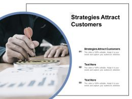 Strategies Attract Customers Ppt Powerpoint Presentation Gallery Ideas Cpb