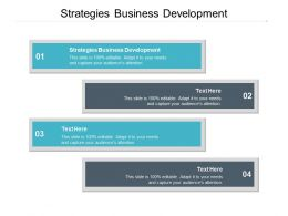 Strategies Business Development Ppt Powerpoint Presentation Slides Samples Cpb