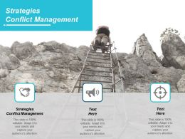 Strategies Conflict Management Ppt Powerpoint Presentation Ideas Influencers Cpb