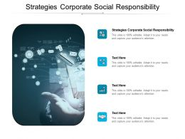 Strategies Corporate Social Responsibility Ppt Powerpoint Presentation Picture Cpb
