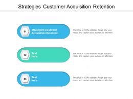 Strategies Customer Acquisition Retention Ppt Powerpoint Presentation Pictures Graphics Download Cpb