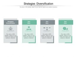 Strategies Diversification Ppt Powerpoint Presentation Icon Introduction Cpb