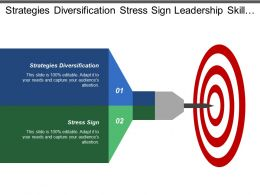 Strategies Diversification Stress Sign Leadership Skill Personality Trait
