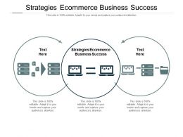 Strategies Ecommerce Business Success Ppt Powerpoint Presentation Gallery Good Cpb