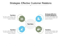 Strategies Effective Customer Relations Ppt Powerpoint Presentation Structure Cpb