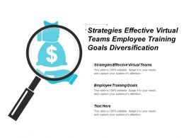 strategies_effective_virtual_teams_employee_training_goals_diversification_strategies_cpb_Slide01