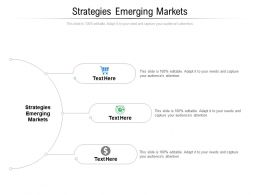 Strategies Emerging Markets Ppt Powerpoint Presentation Professional Outfit Cpb