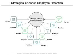 Strategies Enhance Employee Retention Ppt Powerpoint Presentation Layouts Visual Aids Cpb
