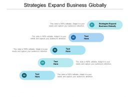 Strategies Expand Business Globally Ppt Powerpoint Presentation Visual Aid Cpb