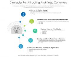 Strategies For Attracting And Keep Customers