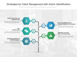Strategies For Client Management With Action Identification