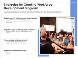Strategies For Creating Workforce Development Programs