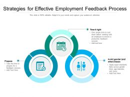 Strategies For Effective Employment Feedback Process