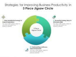 Strategies For Improving Business Productivity In 3 Piece Jigsaw Circle