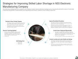 Strategies For Improving Strategies Improve Skilled Labor Shortage Company