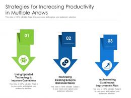 Strategies For Increasing Productivity In Multiple Arrows