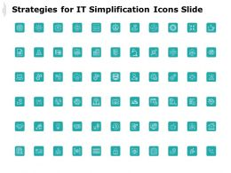 Strategies For It Simplification Icons Slide Gear Marketing C178 Ppt Powerpoint Presentation Icon Slides