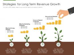 Strategies For Long Term Revenue Growth