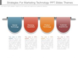 Strategies For Marketing Technology Ppt Slides Themes