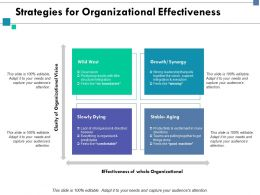 Strategies For Organizational Effectiveness Ppt Slides Graphics Tutorials