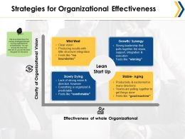 Strategies For Organizational Effectiveness Ppt Summary Icons