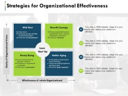 Strategies For Organizational Effectiveness Ppt Summary Structure