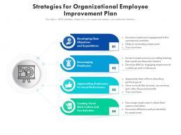 Strategies For Organizational Employee Improvement Plan