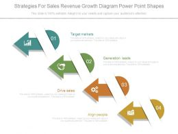 Strategies For Sales Revenue Growth Diagram Power Point Shapes