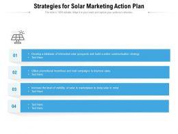 Strategies For Solar Marketing Action Plan