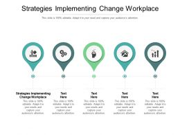 Strategies Implementing Change Workplace Ppt Powerpoint Presentation Styles Show Cpb